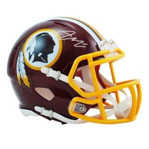 Autographed Washington Redskins Bryce Love Fanatics Authentic Riddell Speed Mini Helmet