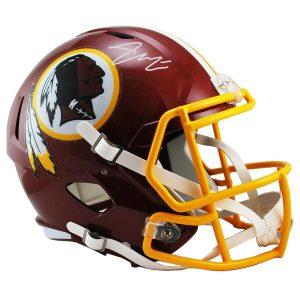 Autographed Washington Redskins Bryce Love Fanatics Authentic Riddell Speed Replica Helmet