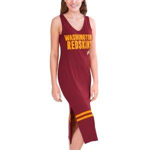 G-III 4Her by Carl Banks Washington Redskins Women's Burgundy/Gold Opening Day Maxi Dress
