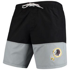 G-III Sports by Carl Banks Washington Redskins Black/Gray Anchor Volley Swim Trunks