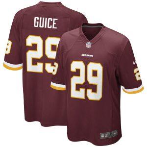 Men's Washington Redskins Derrius Guice Nike Burgundy Game Jersey