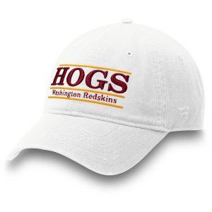Men's Washington Redskins White Hogs Nickname Bar Adjustable Hat