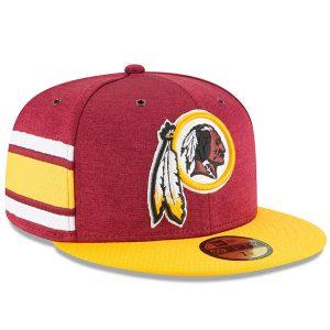 Men's Washington Redskins New Era Burgundy/Gold 2018 NFL Sideline Home Official 59FIFTY Fitted Hat