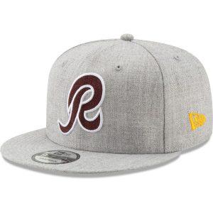Men's Washington Redskins New Era Heathered Gray Hype 2 9FIFTY Adjustable Snapback Hat