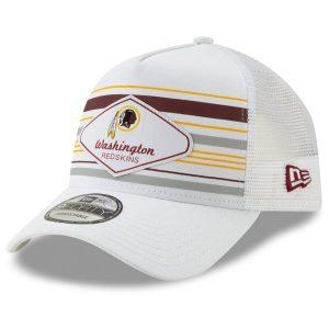 Men's Washington Redskins New Era White Indo A-Frame Trucker 9FORTY Adjustable Snapback Hat