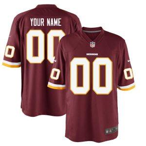 Men's Washington Redskins Nike Burgundy Custom Game Jersey