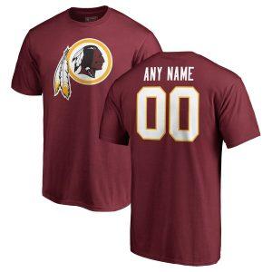 NFL Pro Line Washington Redskins Burgundy Any Name & Number Logo Personalized T-Shirt