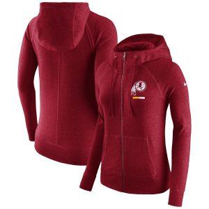 Nike Washington Redskins Women's Burgundy Gym Vintage Full-Zip Hoodie