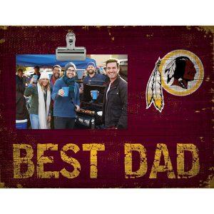 "Washington Redskins 8"" x 10.5"" Best Dad Clip Frame"