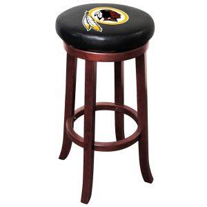 Washington Redskins Brown Wooden Bar Stool