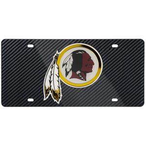 Washington Redskins Carbon Fiber License Plate