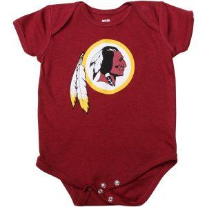 Washington Redskins Newborn Burgundy Team Logo Bodysuit