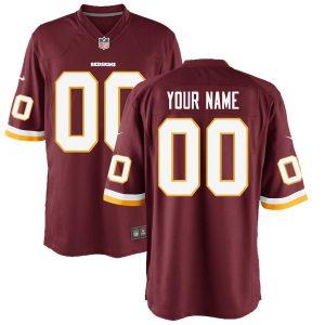 Youth Washington Redskins Nike Burgundy Custom Game Jersey